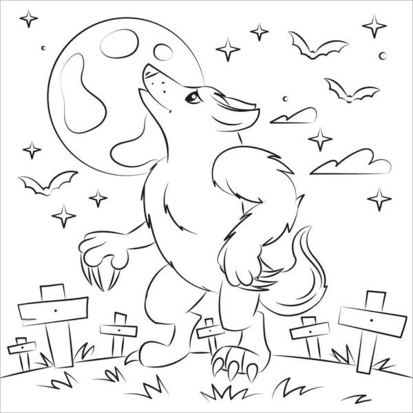 Activité loup-garou à imprimer gratuitement