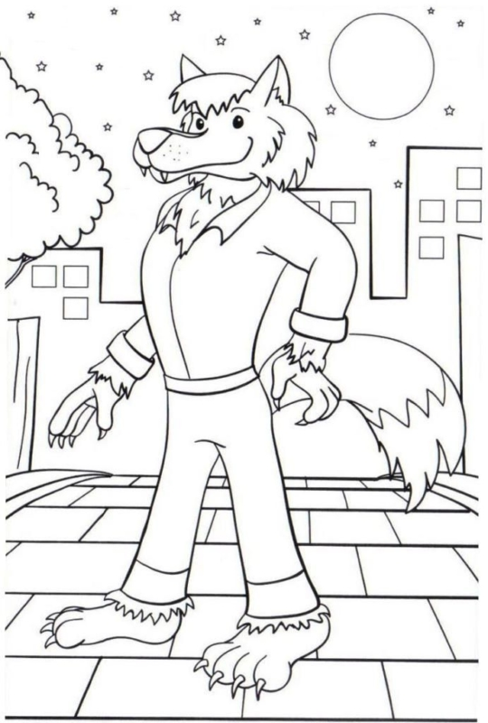 dessin à imprimer et peindre Légende du loup-garou