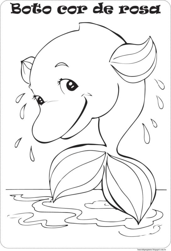 Conception de dauphin rose à imprimer gratuitement