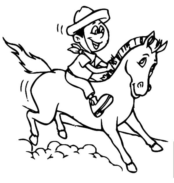 dessin de la légende de Negrinho do Pastoreio