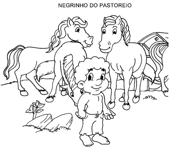 activité de Negrinho do Pastoreio pour imprimer et colorier