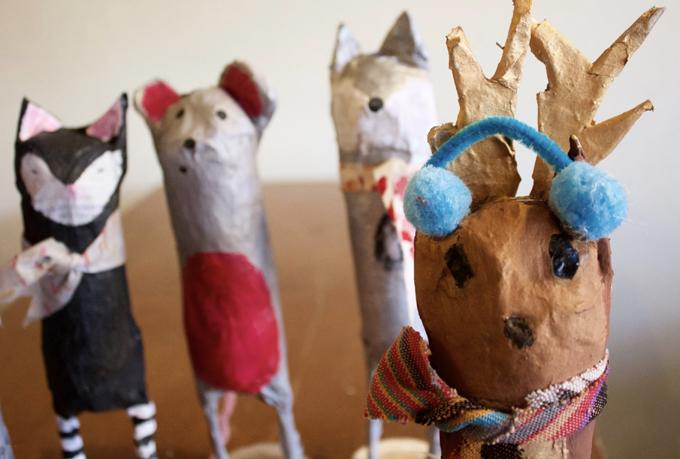 Joli projet d'animal en papier mâché fait à la main pour les enfants