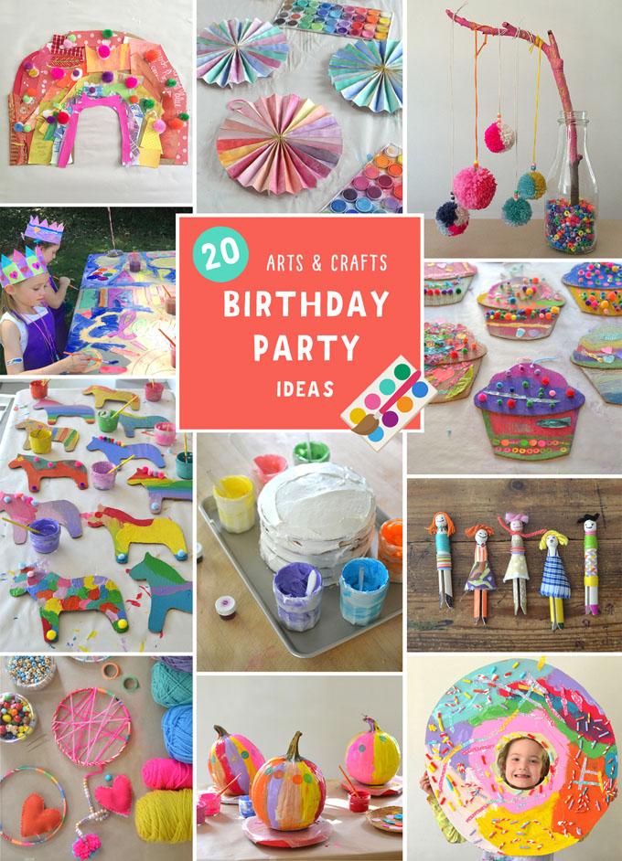 20 idées de fête d'anniversaire d'art et d'artisanat