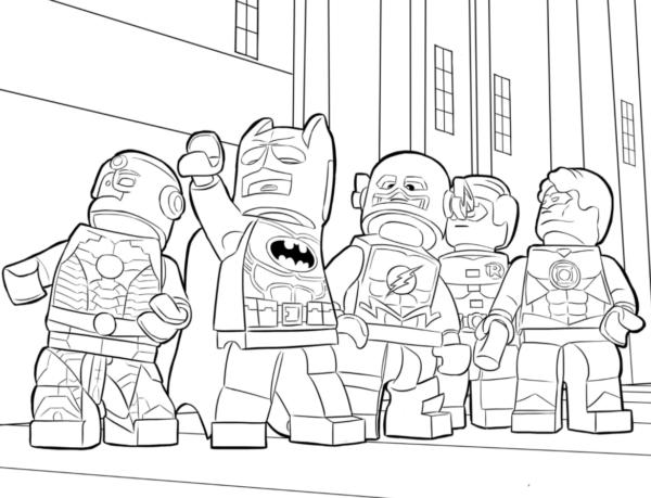 Coloriage - Batman et DC Heroes