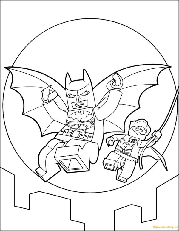 Coloriage - Batman et Robin Lego