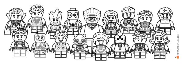 Personnages Avengers à colorier