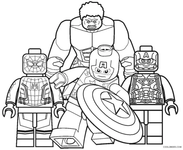 Spiderman Hulk et Captain America