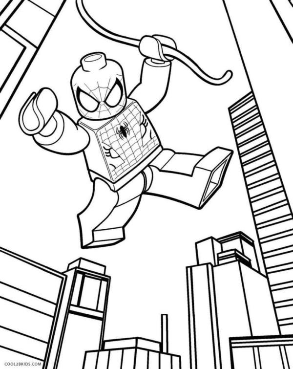 Spider Man pour l'impression et la coloration