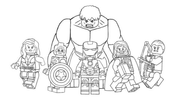 Black Widow Captain America Iron Man Thor Gaviao Archer et Hulk