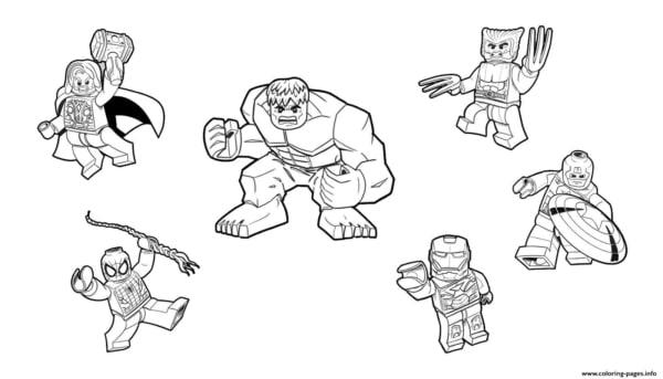 Coloriage - Lego Avengers
