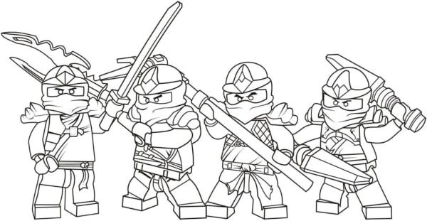 Personnages Ninjago à colorier