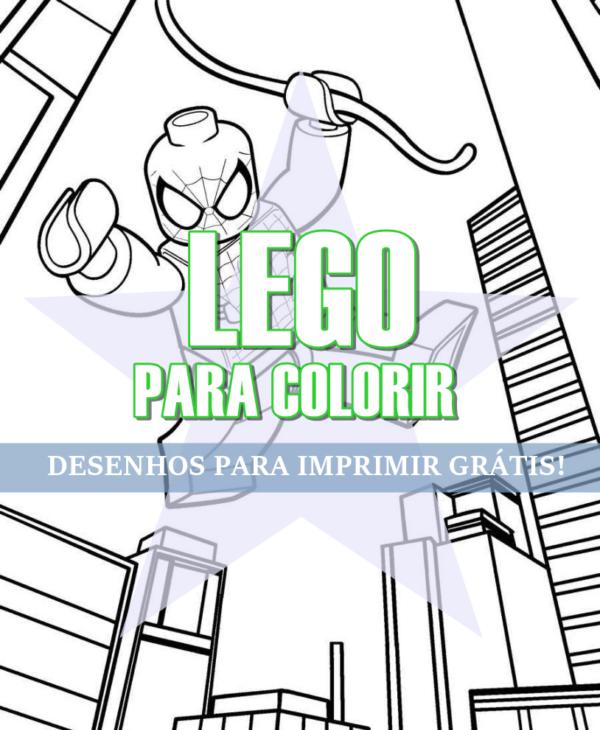 Cache poteau Lego à colorier
