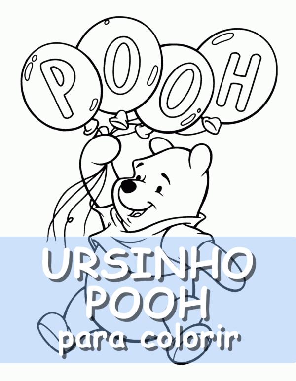Couverture de poteau Winnie l'ourson à colorier