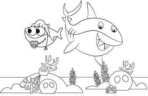 activité de coloriage bébé requin