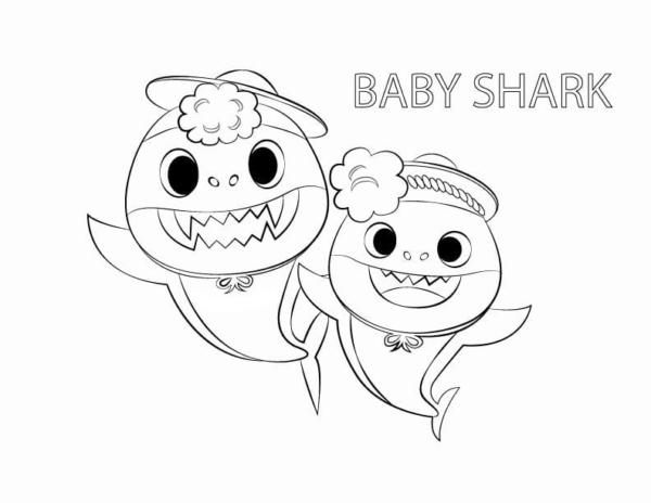 activité gratuite pour colorier bébé requin