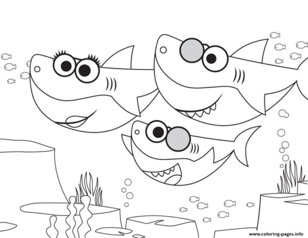 activité pour peindre bébé requin