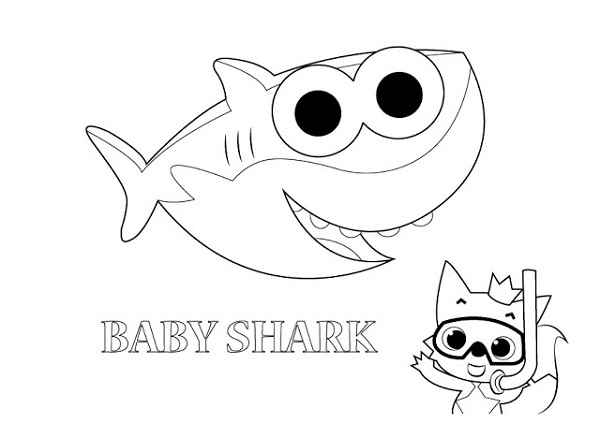 activité de peinture de bébé requin