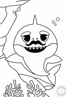 inspiration pour la coloration de bébé requin