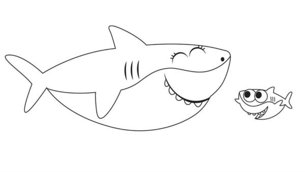 activité bébé requin à peindre gratuitement