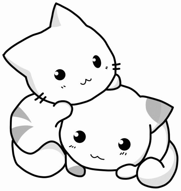 chatons à colorier