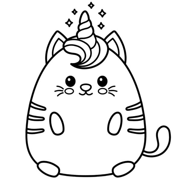 coloriage chat licorne