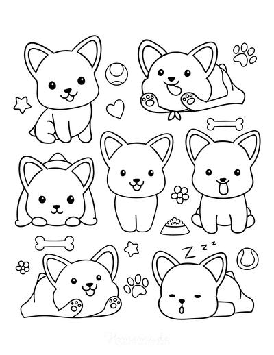 dessin de chien à colorier