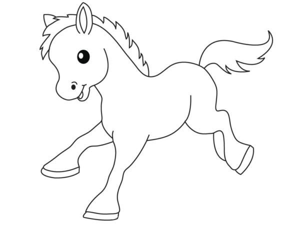 coloriages de chevaux mignons