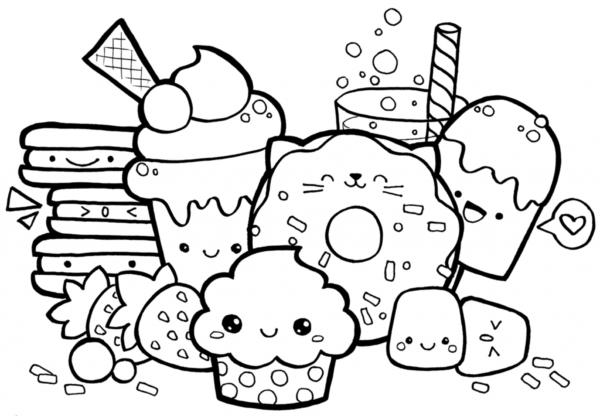 jolis bonbons à colorier