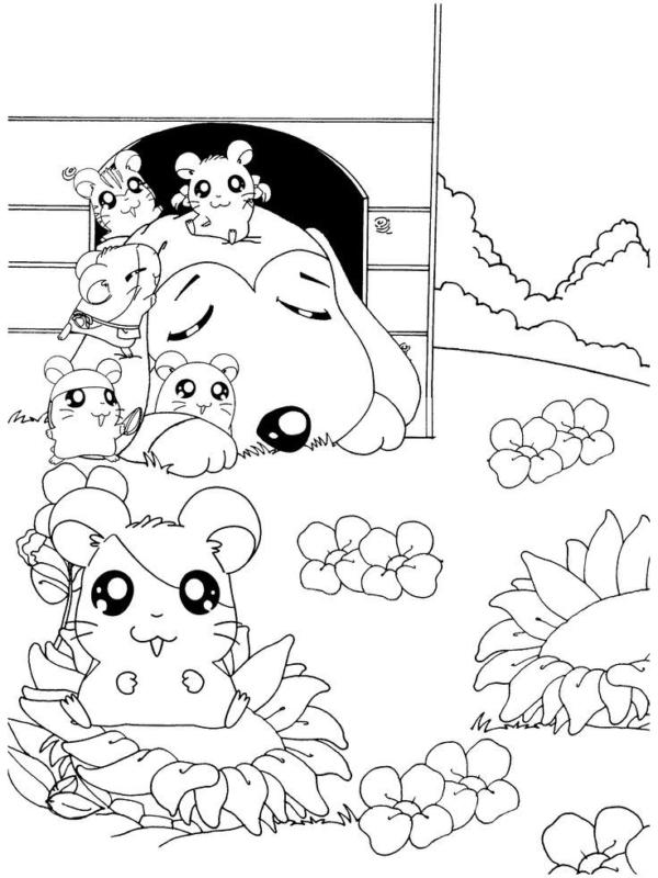 coloriages mignons (classe Hamtaro)