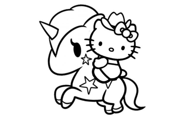Coloriages mignons de Hello Kitty