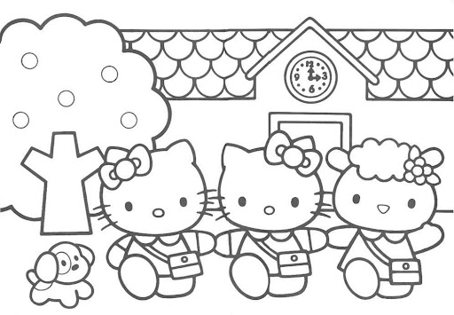 Hello Kitty à imprimer et colorier