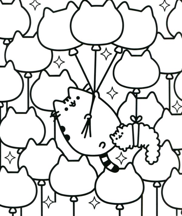 jolies pages à colorier de Pusheen