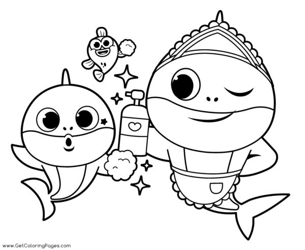 bébé requin à imprimer et peindre gratuitement